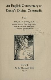 Cover of: An English commentary on Dante's Divina commedia