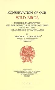 Cover of: Conservation of our wild birds
