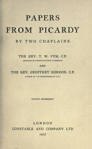 Cover of: Papers from Picardy