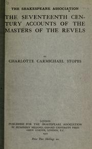 Cover of: The seventeenth century accounts of the masters of the revels