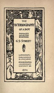 Cover of: The autobiography of a boy