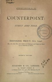 Counterpoint by Ebenezer Prout