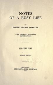 Cover of: Notes of a busy life