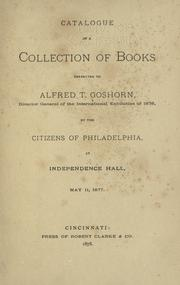 Cover of: Catalogue of a collection of books presented to the directory general of the International exhibition of 1876