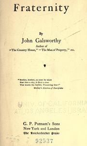 Fraternity by John Galsworthy
