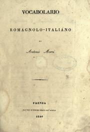 Cover of: Vocabolario romagnolo-italiano