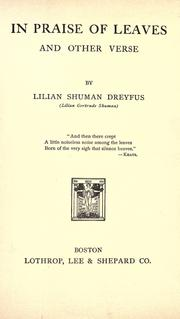 Cover of: In praise of leaves