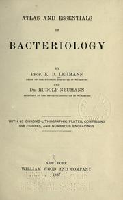 Cover of: Atlas and essentials of bacteriology | Karl Bernhard Lehmann