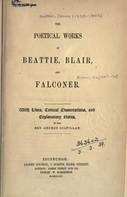 Cover of: The poetical works of Beattie, Blair, and Falconer