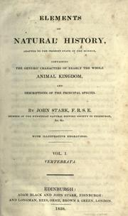 Cover of: Elements of natural history