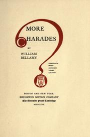 Cover of: More charades