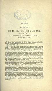 Cover of: The tariff