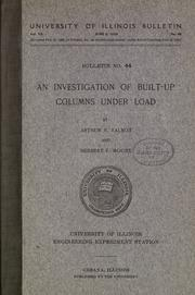 Cover of: An investigation of build-up columns under load