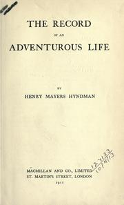 Cover of: The record of an adventurous life