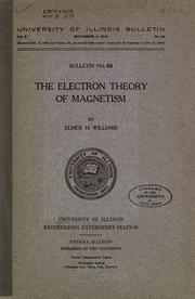 Cover of: The electron theory of magnetism