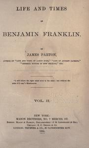 Cover of: Life and times of Benjamin Franklin