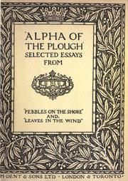 "Cover of: Selected essays from ""Pebbles on the shore"" and ""Leaves in the wind"""
