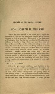 Cover of: Growth of the postal system