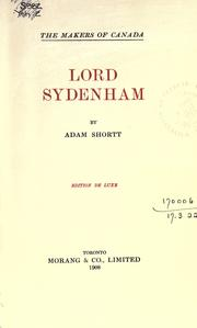 Cover of: Lord Sydenham
