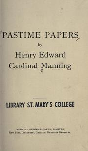 Cover of: Pastime papers