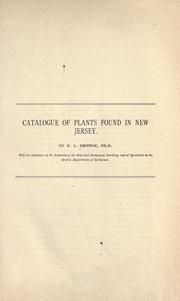 Cover of: Catalogue of plants found in New Jersey