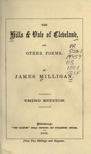 Cover of: The hills & vale of Cleveland, and other poems