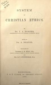 Cover of: System of Christian ethics