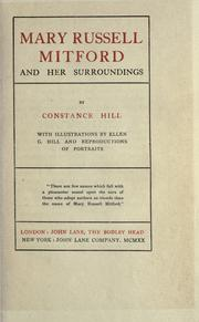 Cover of: Mary Russell Mitford and her surroundings
