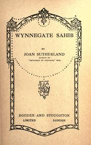 Cover of: Wynnegate sahib