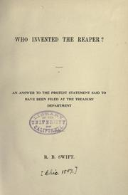 Cover of: Who invented the reaper?