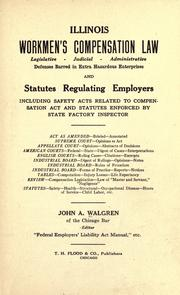 Cover of: Illinois workmen's compensation law