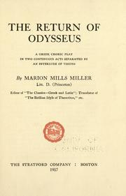Cover of: The Return of Odysseus