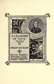 Cover of: A calendar of sonnets