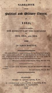 Cover of: A narrative of the political and military events of 1815 ..