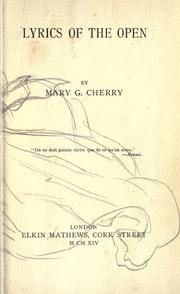 Cover of: Lyrics of the open