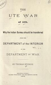 Cover of: The Ute war of 1879