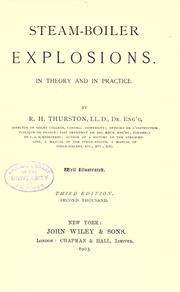 Cover of: Steam-boiler explosions: in theory and practice.
