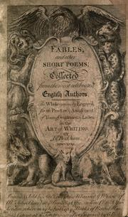 Cover of: Fables, and other short poems