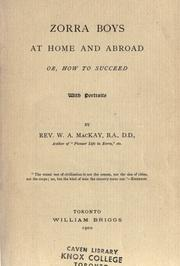 Cover of: Zorra boys at home and abroad | W. A. MacKay
