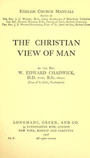 Cover of: The Christian view of man