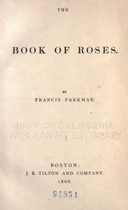 Cover of: The book of roses