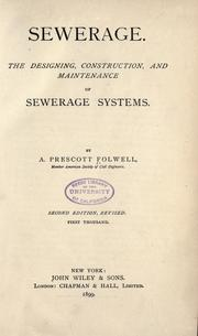 Cover of: Sewerage
