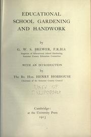Cover of: Educational school gardening and handwork