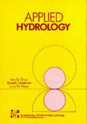 Cover of: Applied Hydrology (Civil Engineering)