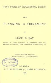 Cover of: The planning of ornament