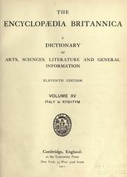 Cover of: The Encyclopaedia Britannica |