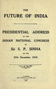 Cover of: The future of India
