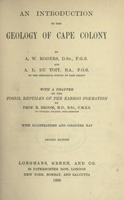 Cover of: An introduction to the geology of Cape Colony