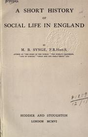 Cover of: A short history of social life in England