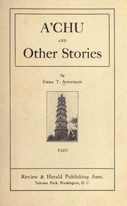 Cover of: A'Chu and other stories